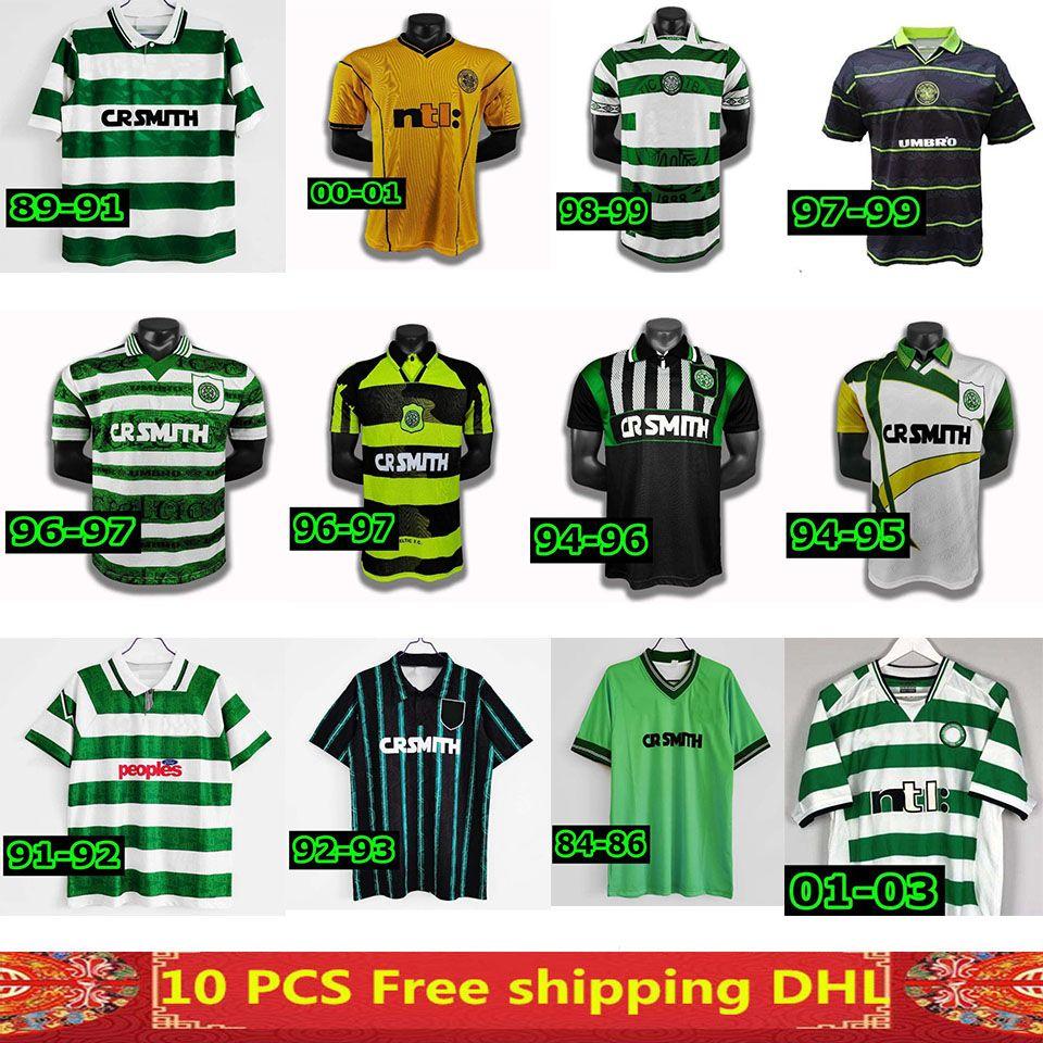 В наличии 1982 1984 1986 1989 Celtic Ретро Футбол Футбол 1991 1992 1998 1999 Футбольные рубашки Larsson Classic Vintage Sutton 1995 1997