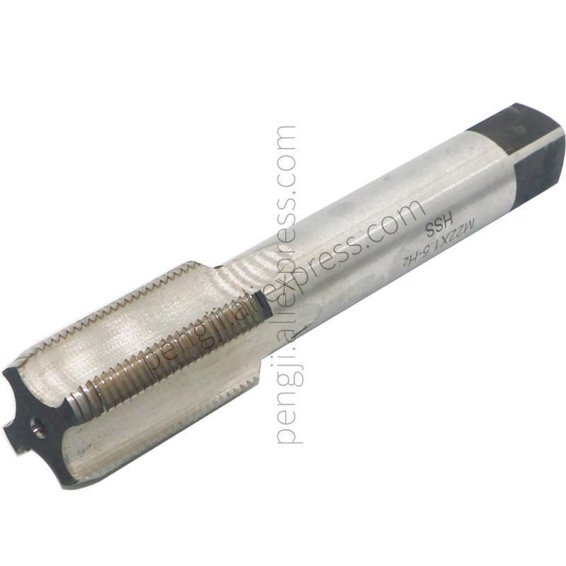 Makine musluk M22 x 1.5 mm Pitch iplik 4 flüt, yüksek hızlı çelik şekillendirme sivri musluk, HSS metrik vida tapa dokunun. El aletleri