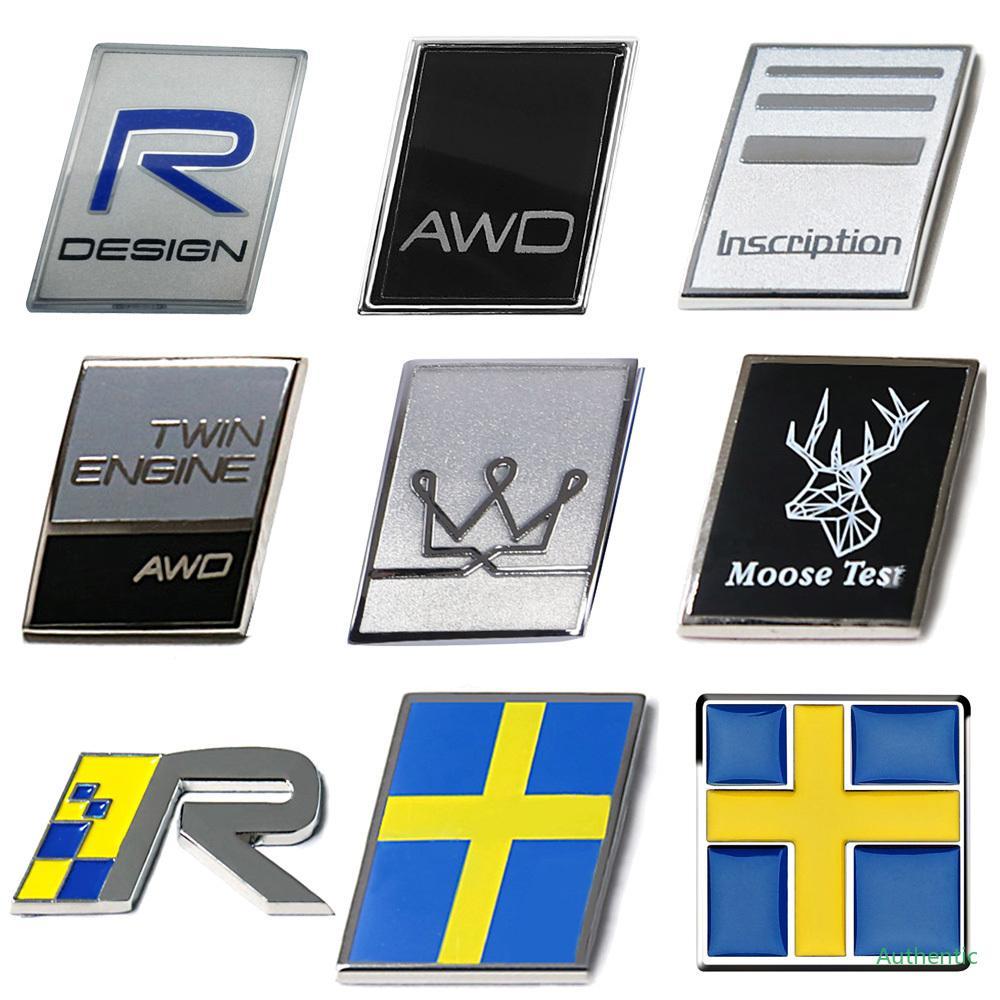 Sticker Emblème Swedish Flag Badge pour Volvo S40 S70 S80 C70 XC60 XC70 V40 V50 V70 V90 Construction