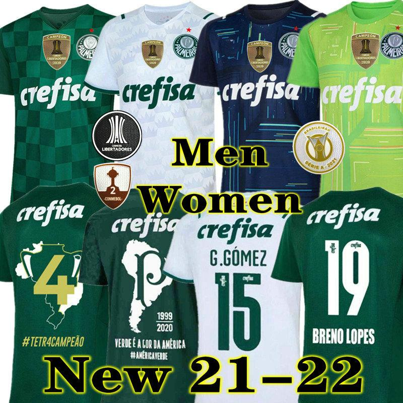 En kaliteli 21 22 Palmeiras Soccer Jersey Home Green Dudo G.Jesus Jean AleCsandro 2021 Palmeiras Away AwaySeone Cleiton Xavier Futbol Gömlekleri
