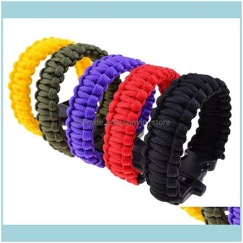 Bracelets And Camping Hiking & Outdoorsparacord Parachute Cord Lanyard Outdoor Emergency Survival Self Rescue Paracord Wristband Adult Sport