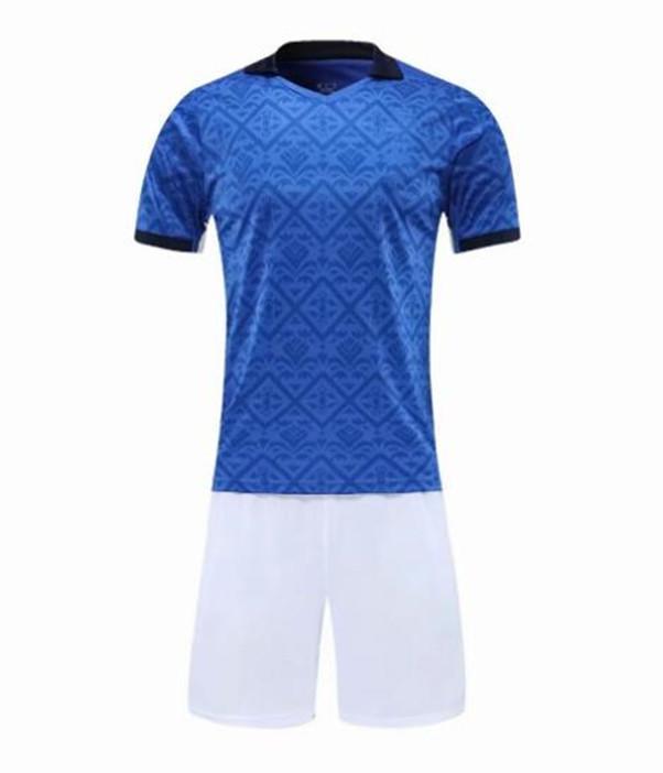 2021 sky blue adult kits Soccer Jerseys Custom blank football kit Training Running Soccer Wears Short sleeve Running With Shorts DN