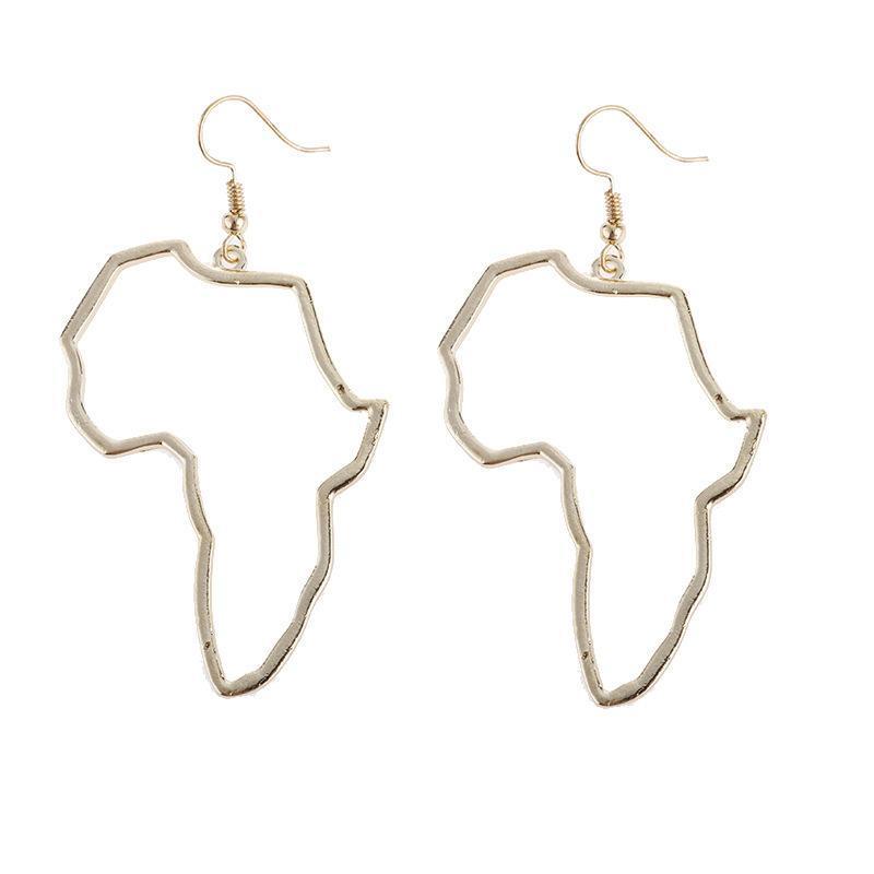 Baumeliger Kronleuchter Anniyo Afrikanische Karte Große Ohrringe Übertreibung Größere Ohrring Bolzen Afrika Ornamente Traditionelle ethnische Hyperbole Schmuck