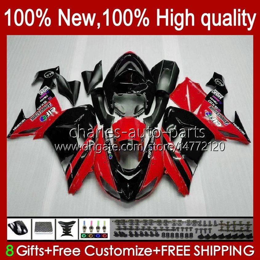 Carroçaria para a Kawasaki ZX 10 R ZX1000 CC ZX1000 ZX 10R 06 07 corpo 44HC.47 chamas vermelhas nova ZX 1000cc ZX10R 06 07 ZX10R 2006 2007 carenagens kit