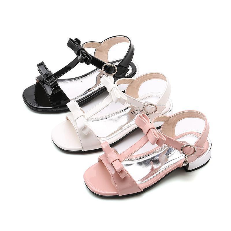 أحذية أطفال بنات الصنادل اللؤلؤ قطع مسطحة مفتوحة تو المدرسة تنفس