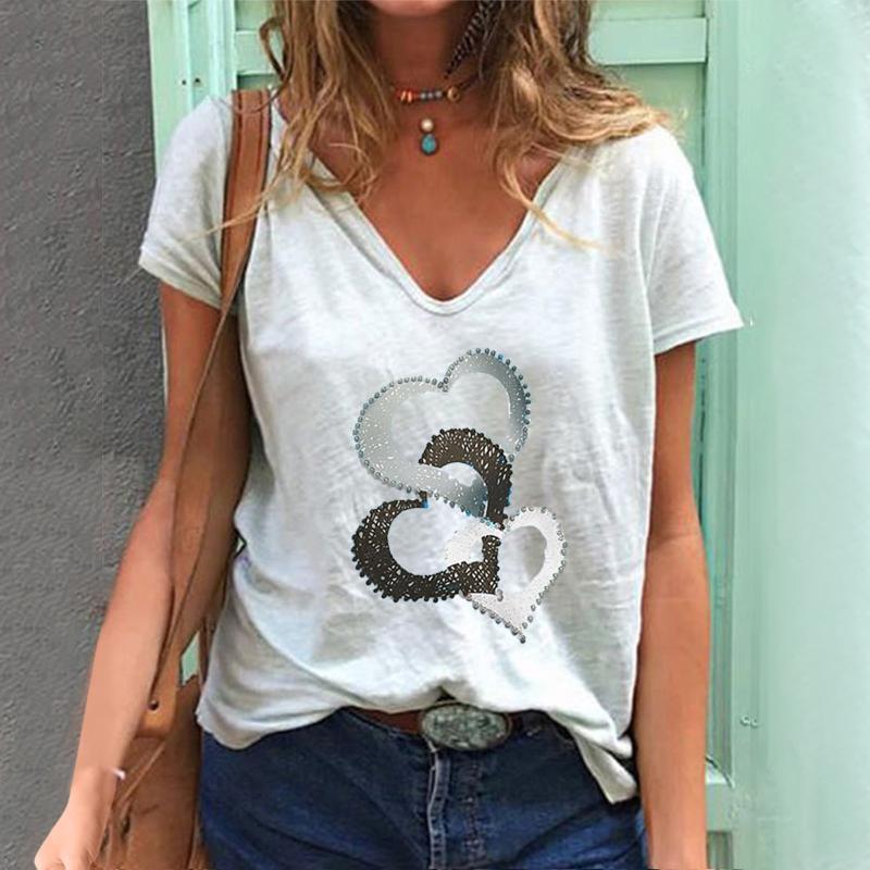 النساء 2021 t-shirt قصيرة الأكمام الطباعة الربيع الأزياء سيدة الملابس طباعة الزى الإناث المحملة الأعلى السيدات الجرافيك المرأة