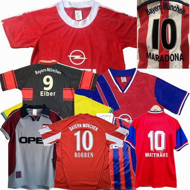 Rétro Classic Bayern Jerseys 1991 93 95 96 97 98 99 2000 2001 2010 11 13 14 Soccer Klose Scholl Matthaus Lahm Klinsmann Schweinsteiger Robben Munich Shirt de football