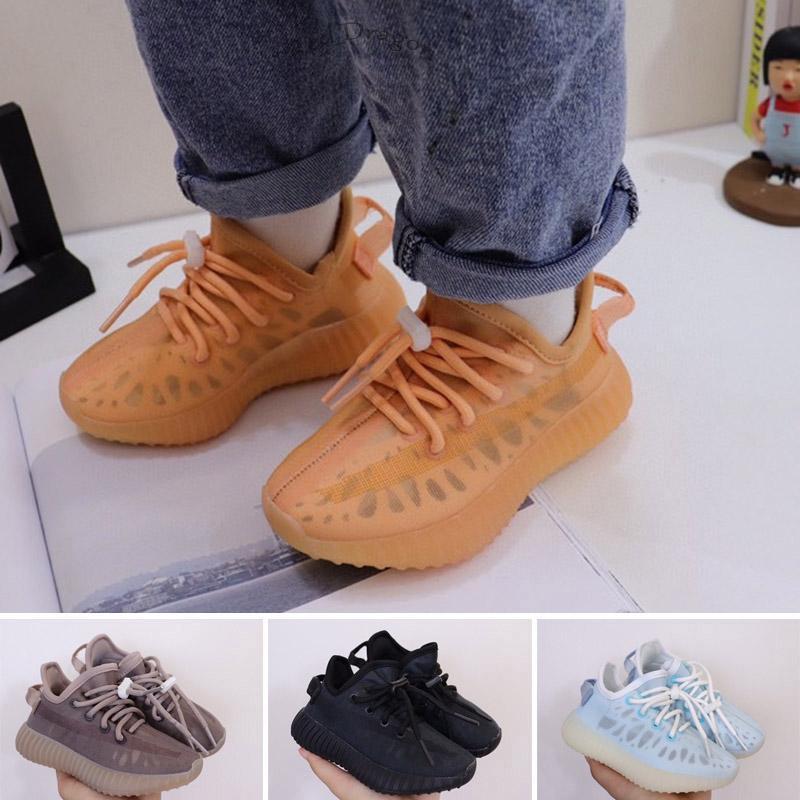 Tasarımcılar Çocuk Atletik Açık Ayakkabı 2021 KAN BÜYÜKLER Eğitimciler V2 Kil Siyah Üç Kişilik Beyaz Antlia Çocuk Sneakers Erkek Kızlar EUR 25-35