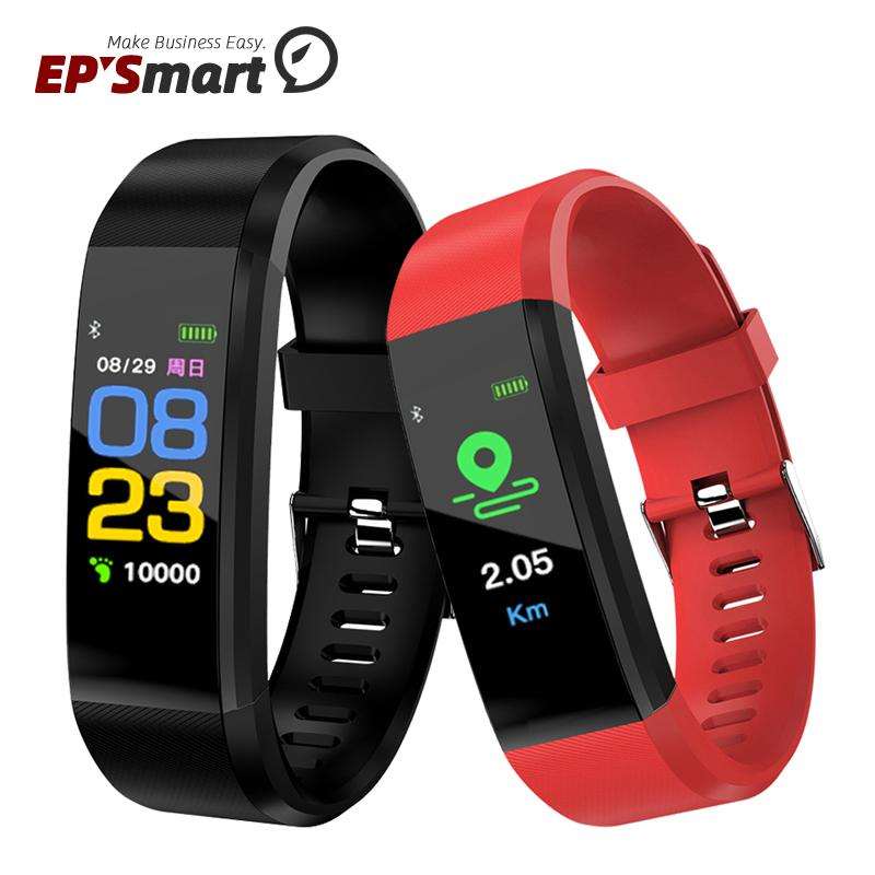 Color Screen ID115 Plus Smart Bracelet Fitness Tracker Pedometer Watch Band Heart Rate Blood Pressure Monitor Wristband