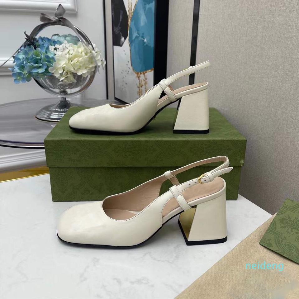 Zapatos de lujo de tacón de tacón de lujo zapatos de cuero para mujer fiesta de boda con caja, recibo 2021