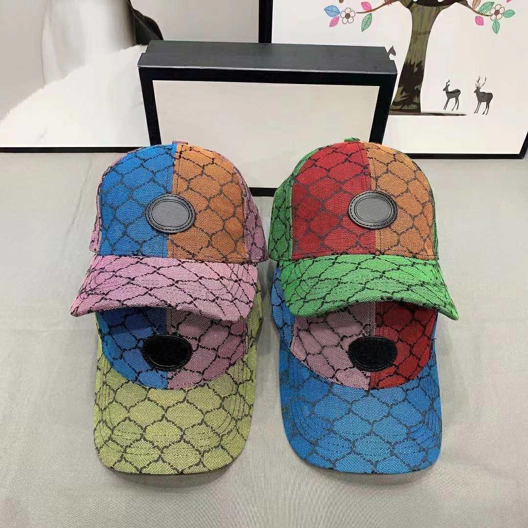 Chapeau de godet coloré Mode Patchwork Streetwear Letter Chapeaux pour homme Femme Capuchon de bouchon réglable Design 4 couleurs de haute qualité