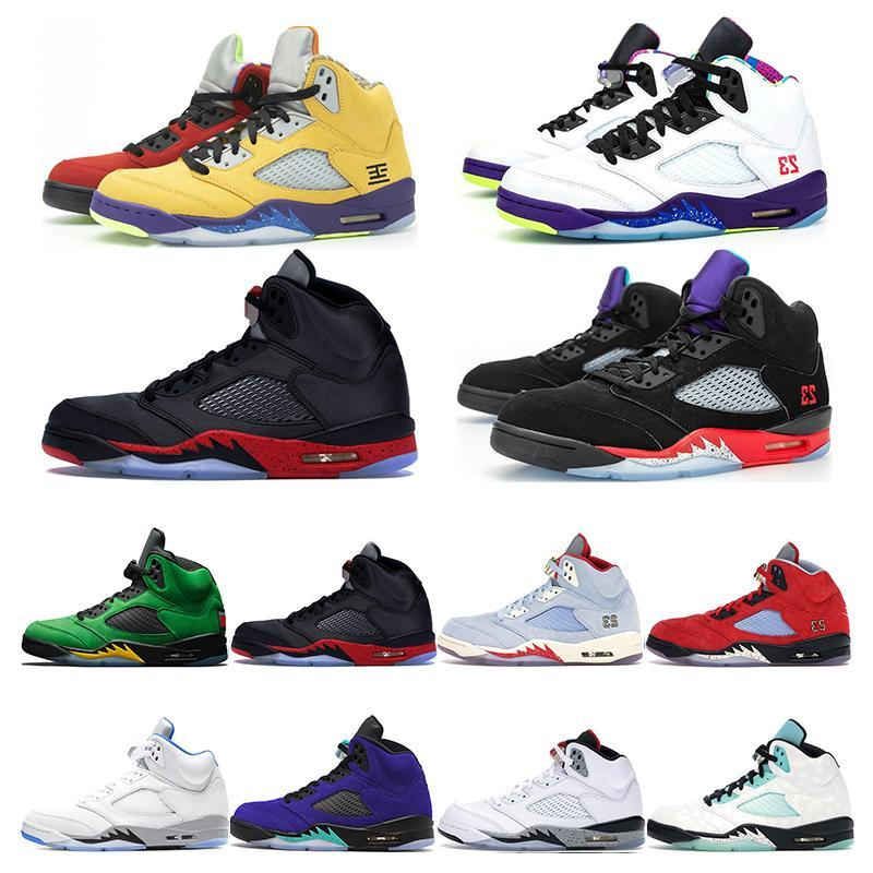 JUMPMAN 2021 TOP QUALITY WITH BOX Basketball Shoes 5 5s Stealth WHAT THE Raging Bull Sail Off Men Women Alternate Grape Trainers Sneakers