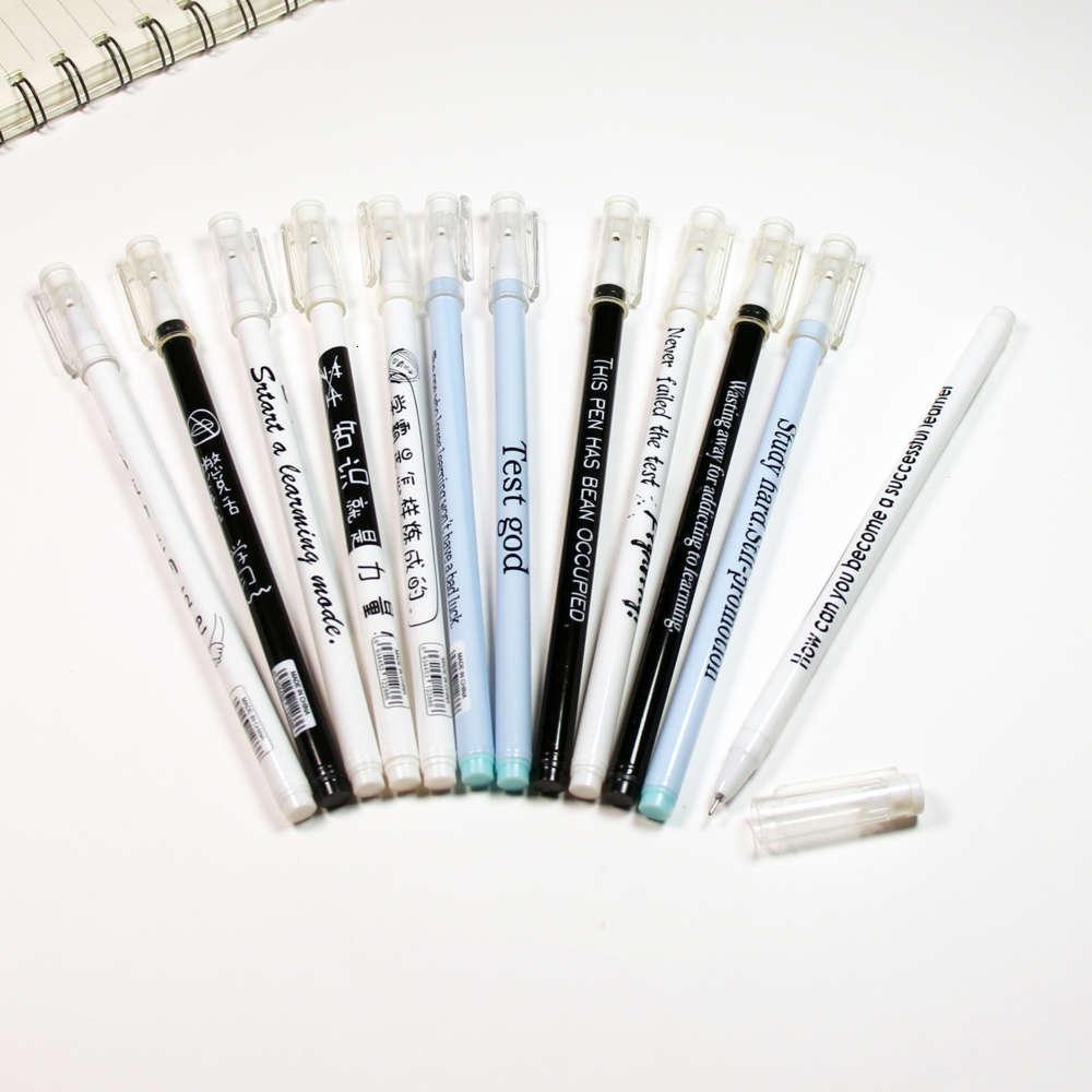 Penna neutra creativo inglese xueba water 0,5 mm esame studentesco business firma per ufficio
