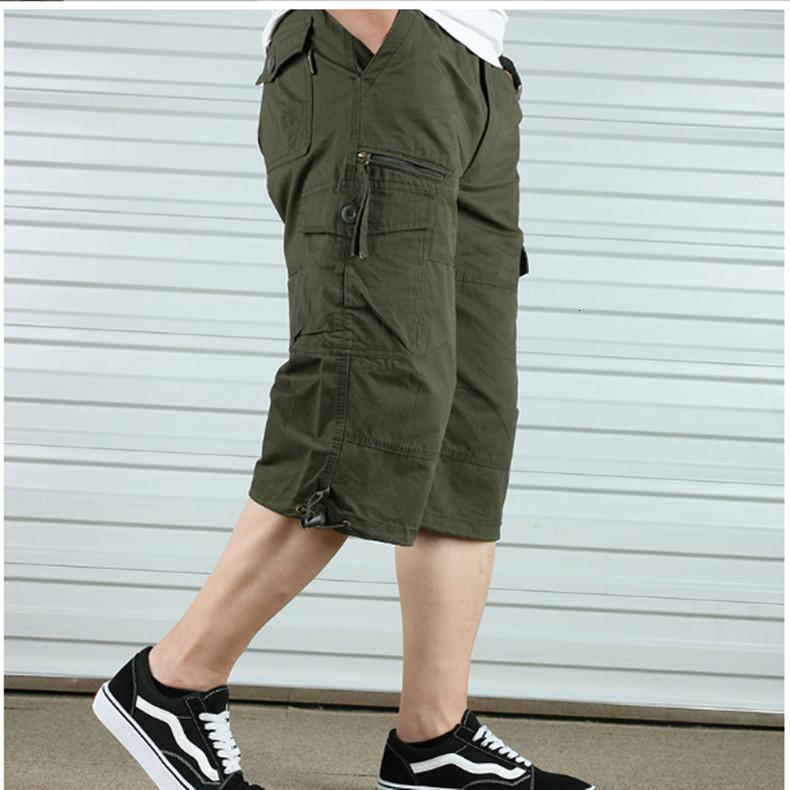 Карманные хлопковые капризные повседневные большой размер тонкие оснастки шорты мужские мульти летняя молодая молодая