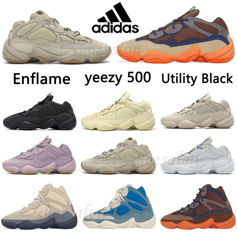 adidas kanye west yeezy boost 500 yezzy yeezys shoes chaussures yecheil scarpe 2021 shoes 3m white 500s black reflective mens women stock x sneakers wave runner 500