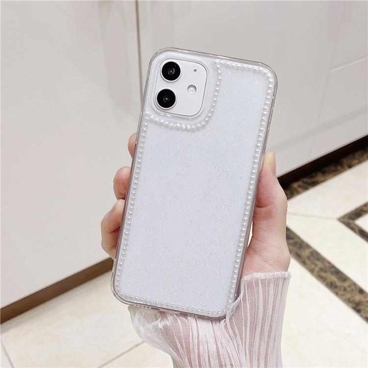 Pearl Glitter Telefone Capas Improof Captura Lustrosa Lustrosas 3D Bling Lantejoulas Shell para iphone x max XR 11 12 Pro