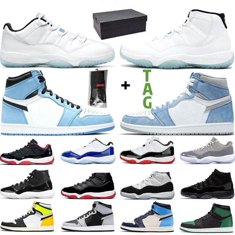 Nike air jordan 11 Basketbol Ayakkabı Concord 45 Platin Ton Kap ve Kıyafeti Erkek Kadın UNC Spor Kırmızı Gama Mavi Zeytin Lux Trainer Spor Sneaker