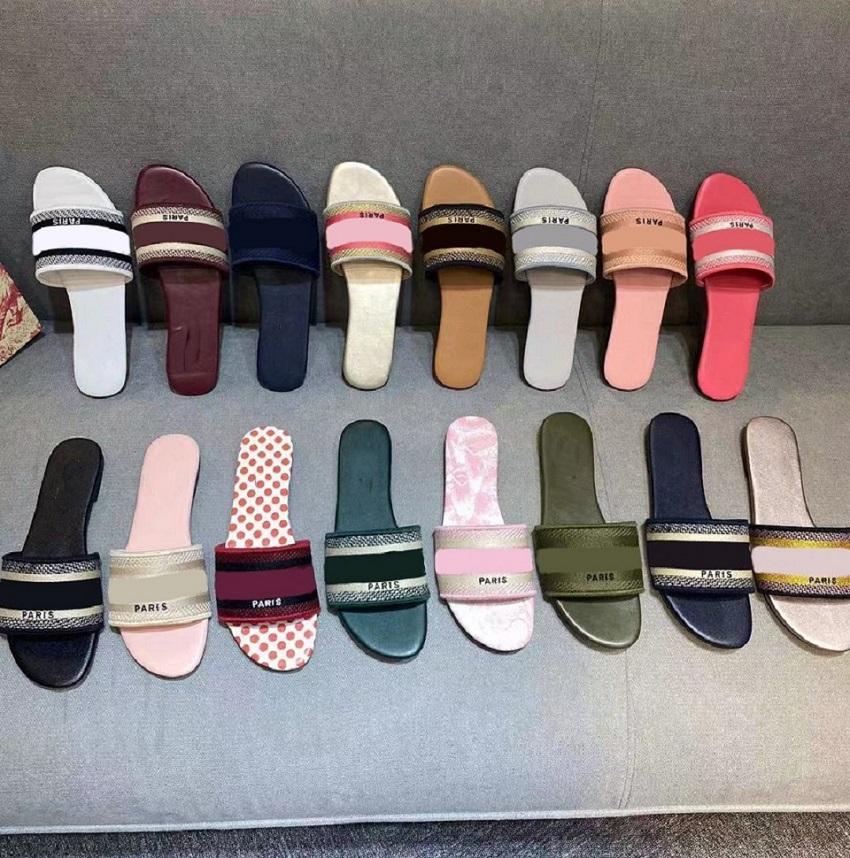 Alta Qualidade Slipper Mulheres Verão Sandálias De Borracha Slide Slide Fashion Scuffs Chinelos Interior Sapatos Tamanho EUR 35-41 COM CAIXA 39