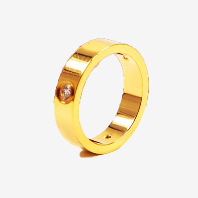 Love Ring for men and women Fashion jewelry Luxury Designer Band Rings Top Gift Width 5mm Size 5-11
