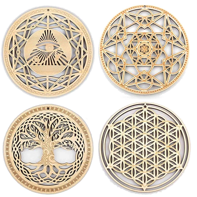 Designer di lusso 21SS Basswood intagliato rotondo pad da pranzo cuscinetto islamico tazza di tazza di legno pad musulmano cucina isolante del calore pad ornamenti decorativi
