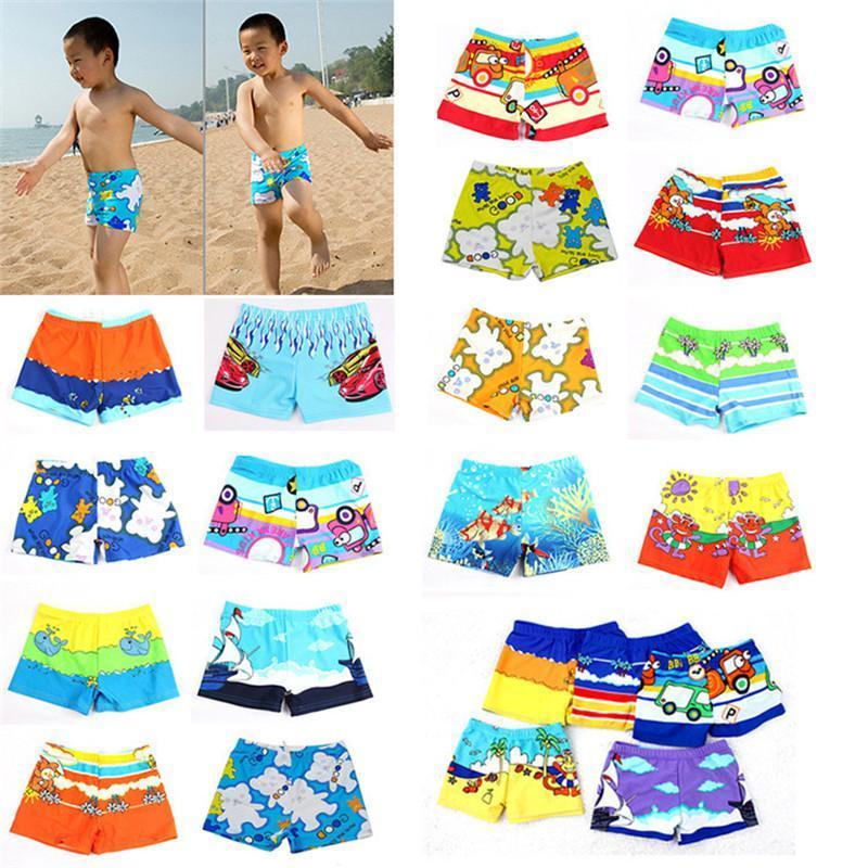 Beach Swimwear Shorts For Boys Summer Diving Swim Wear Cartoon Printed Toddler Baby Kid Child Swimming Trunks Swimsuit2021