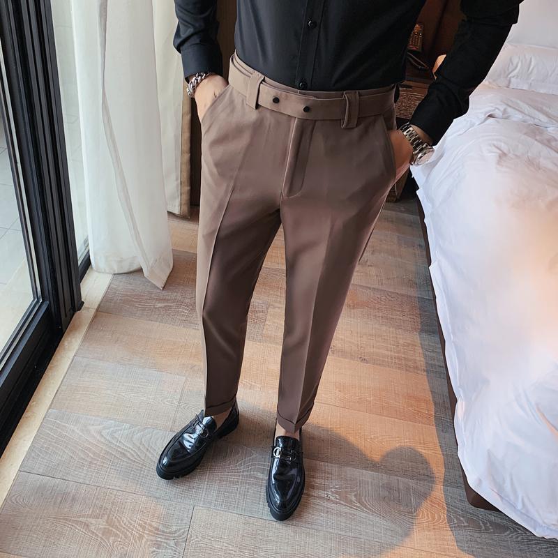 Costume de couleur unie masculin pantalon automne hiver Angleterre pantalon formel business Fit Pantalon Homme Classique Classic Mâle Pantalon Convient à Blaz