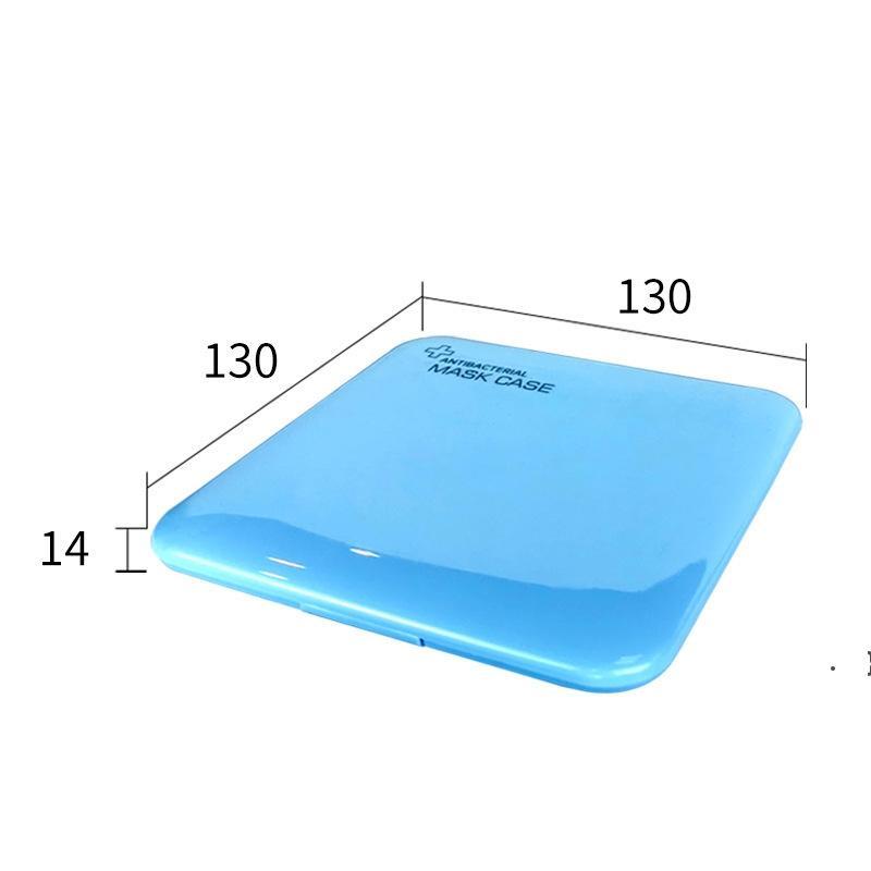 Caja de mascarilla de plástico portátil Cajas de almacenamiento Viajes Mini máscaras Cuadro cuadrado Prevención de la contaminación Maschera Accesorios BWE5965