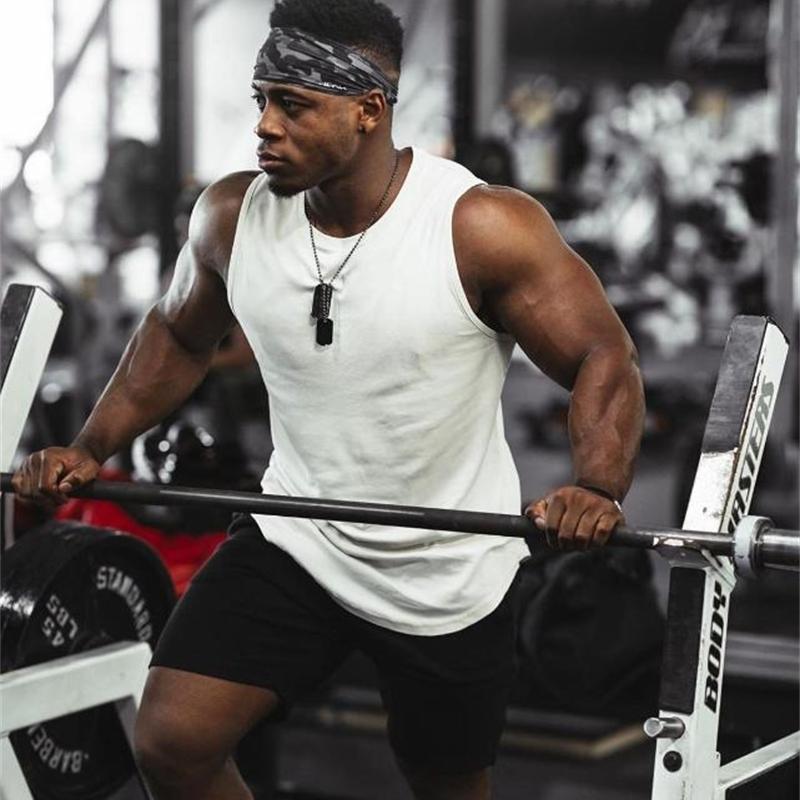 Palestre allenamento maniche Camicia cambio canotta Top uomo fitness mens sportswear bodybuilding abbigliamento giubbotto muscolo uomo canottiere