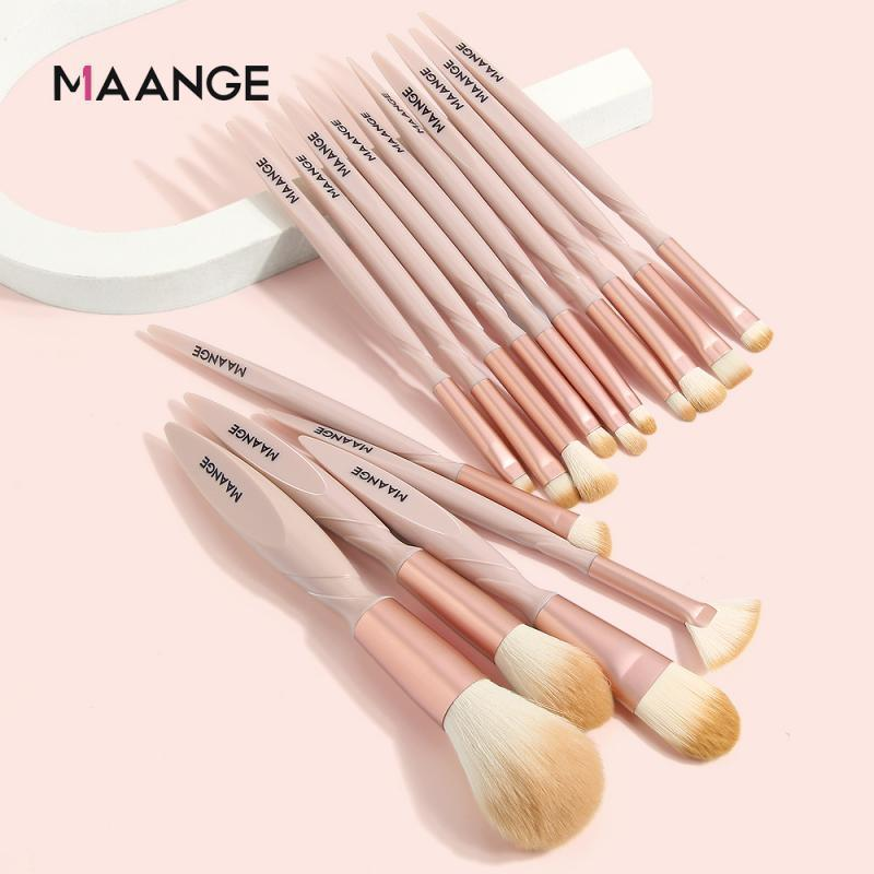 15 pcs pincel de maquiagem conjunto de sombra de mistura de mistura pó de pó blush blush cabeça dupla beleza maquiagem escovas de ferramenta kit