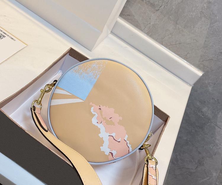 2021 Luxo Rodada Bolo Saco Mulher Designer de Marca Moda Batom Telefone Celular Zero Tamanho da carteira 17 * 17