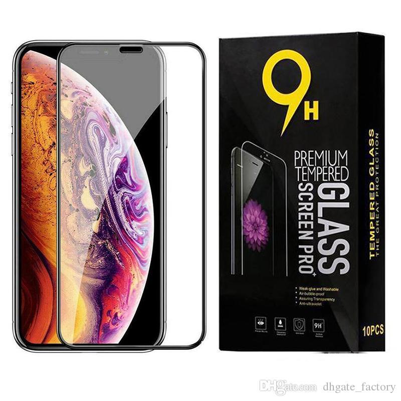 9D 강화 유리 iPhone 12 11 Pro Max XS XR X 8 Samsung S20 Fe S21 Plus A12 A02S A32 A42 A52 A72 5G A31 A51
