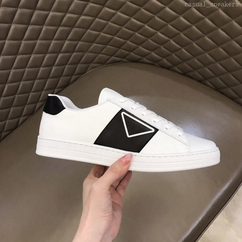Männer niedrige Tops Leder Schnüre Sneaker Mode Casual Schuhe Triple Black White Rote Platform Sneakers Herren Freizeit Trainer Logo auf Seite Band