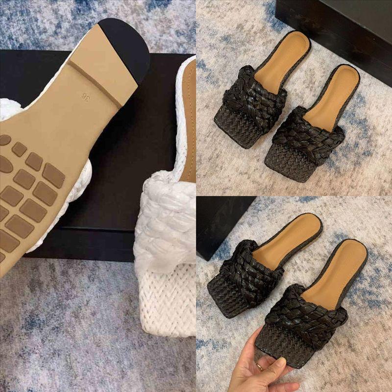 SXZHZ Luxurys Flip Tasarımcı Terlik Kadın Sandalet Terlik Paris Nakış Sandal Çiçek Brocade Ayakkabı Hakiki Çizgili Plaj Lüks Terlikler