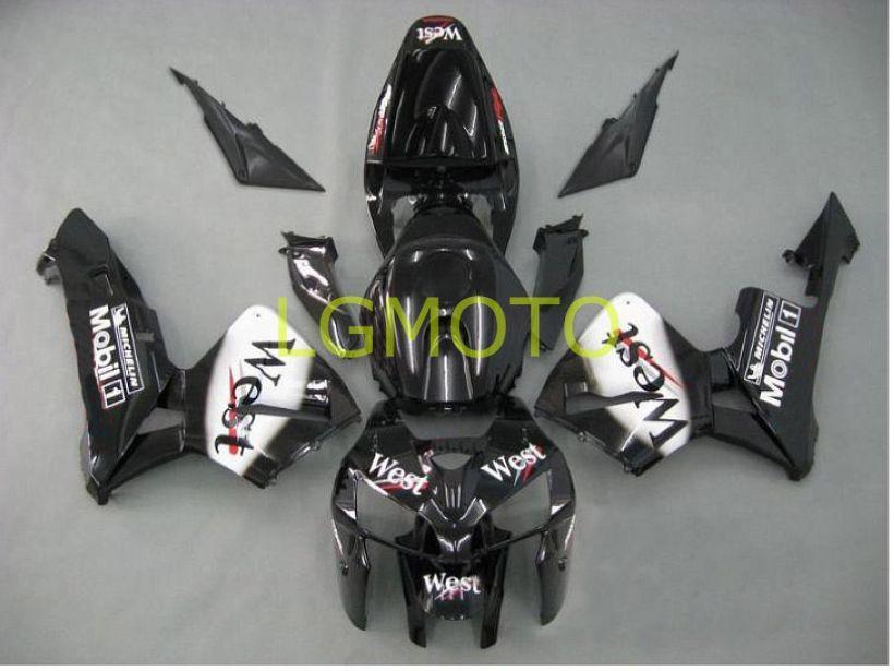 Injecion HONDA CBR600RR F5 2005-2006 motorcycle fairings kits BLACK WEST customize abs fairing kit for cbr600 rr 05-06 2005 2006 bodykits bodywork parts #D7232