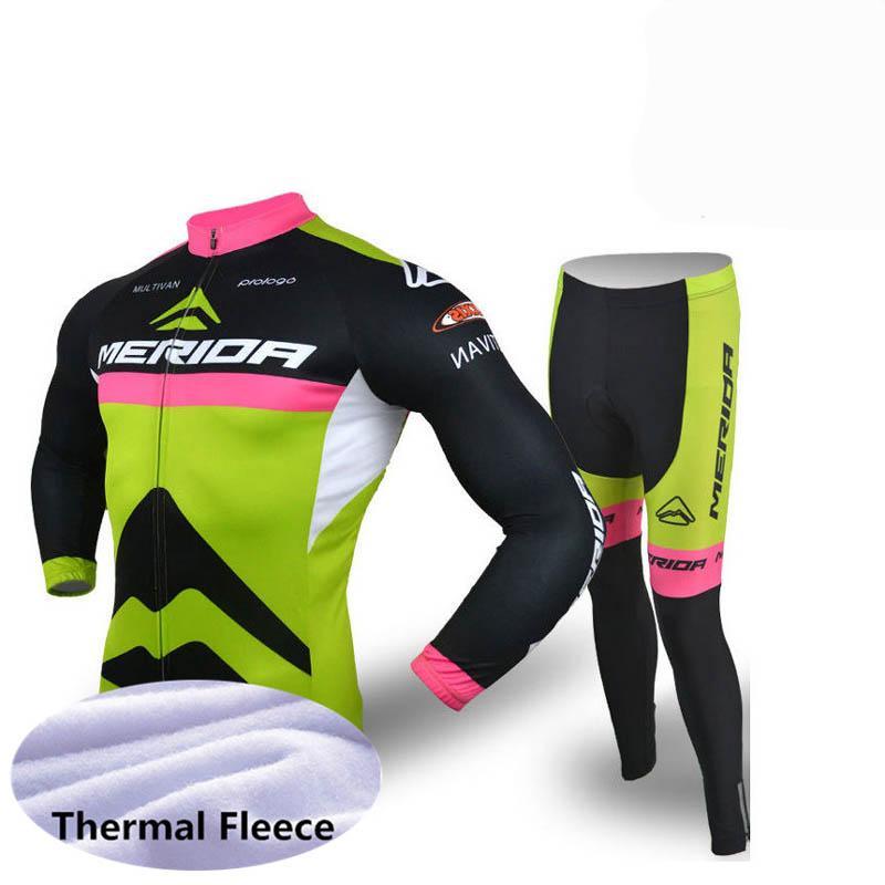 Jersey thermique thermique thermique de la vélo de Merida (BIB) Pantalons Ensembles Vêtements Respirant Soft Soft Cycle Cycle Cycle peut être Mix Z40793