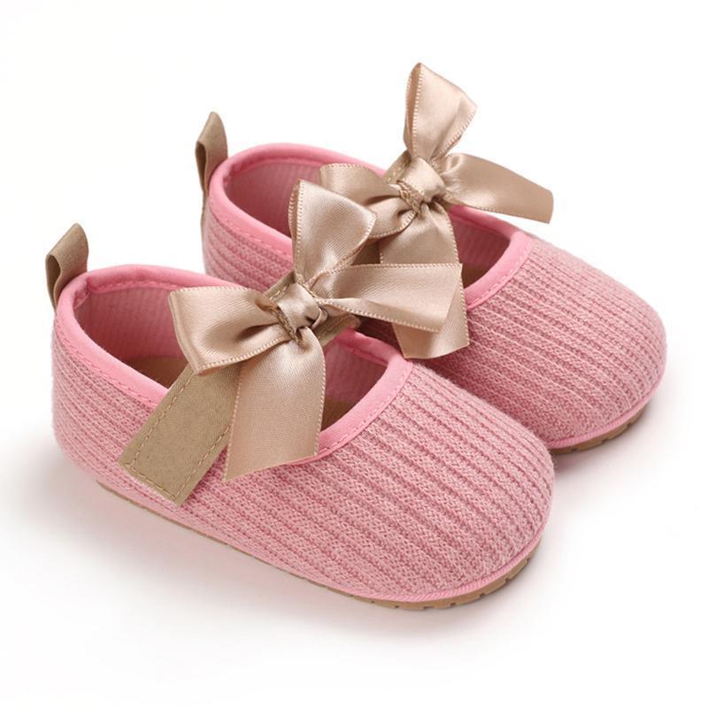 Принцесса детские туфли родились малыши дети девочек бантик мягкий первый ходьба обувь 0-18 месяцев