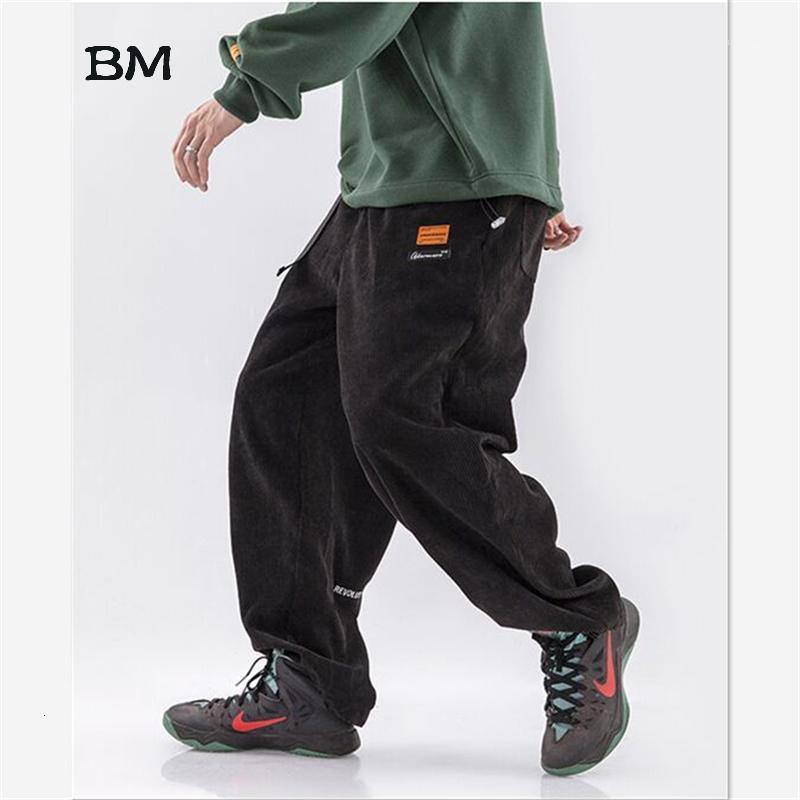 Streetwear lose Mode KPOP Cord Hosen Hip Hop Black Joggers Männer Modis Gerade Fracht Hosen Casual Koreanische Khaki Hose1