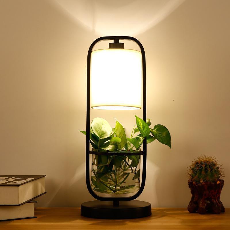 유럽 LED 스톤 아이언 Candeeiro de Mesa 침대 옆 램프 식당 테이블 램프