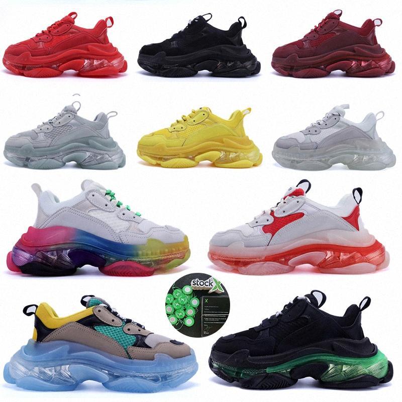 velho pai 17fw sapatos casuais baixa plataforma sneakers balencaiga triplo s negro homens mulheres de ar almofada de ar desenhador chaussures r8zj #