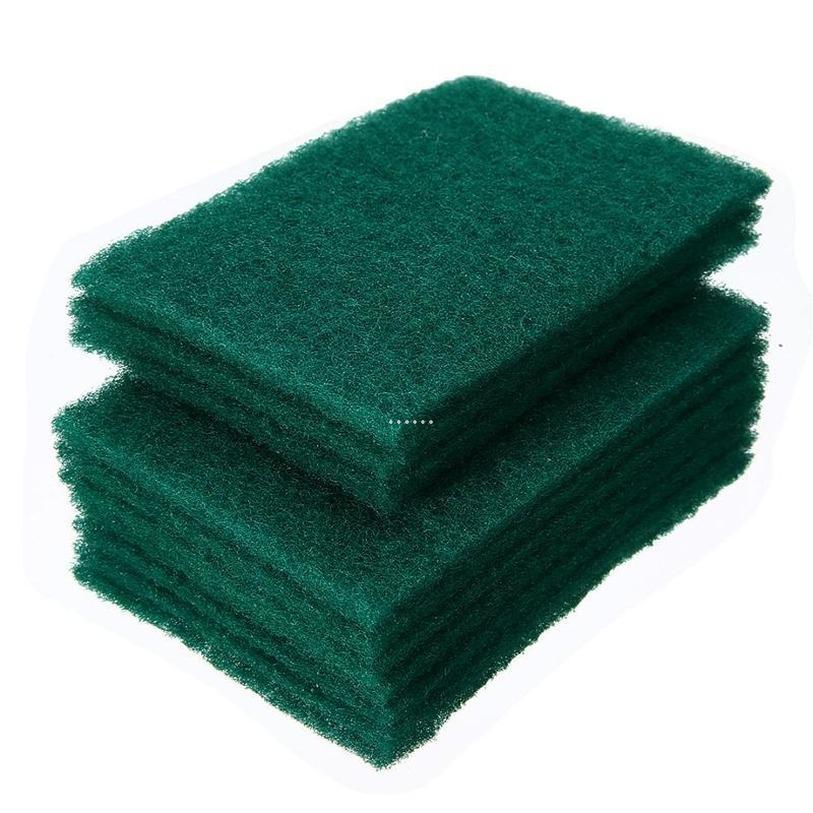 Dunkelgrüner langlebiger Schwerlastscheiben-Pad Allzweck-Peeling-Schwamm-Scheuerung Nicht-Scratch-Topf-Scrubber-Reinigung NHA5087