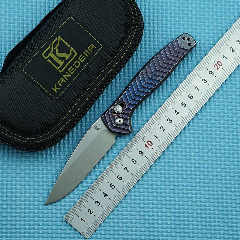 Kanedeiia 781 Titanium Alloy Handle M390 Steel Folding Knife Outdoor Camping Survival Benchmade 15080 535 485 940 Multifunctional EDC Tool