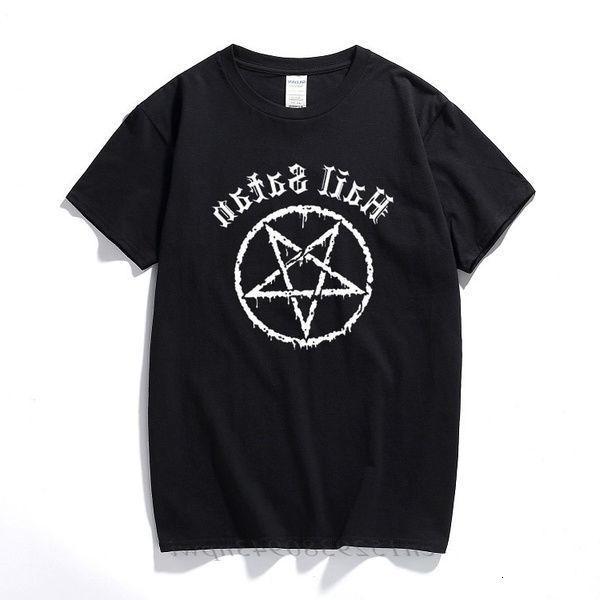 Hail Satanás camiseta Pentagrama Rock Goth Empholy Satanic Punk Emo Regalo Alternativo Top Moda Streetwear Tee Shirts Homme