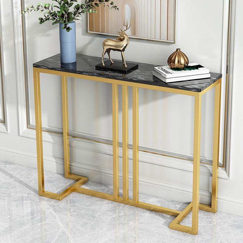 Light luxury marble table,table shelf, table by the wall, slip table, modern porch cabinet, end view platform