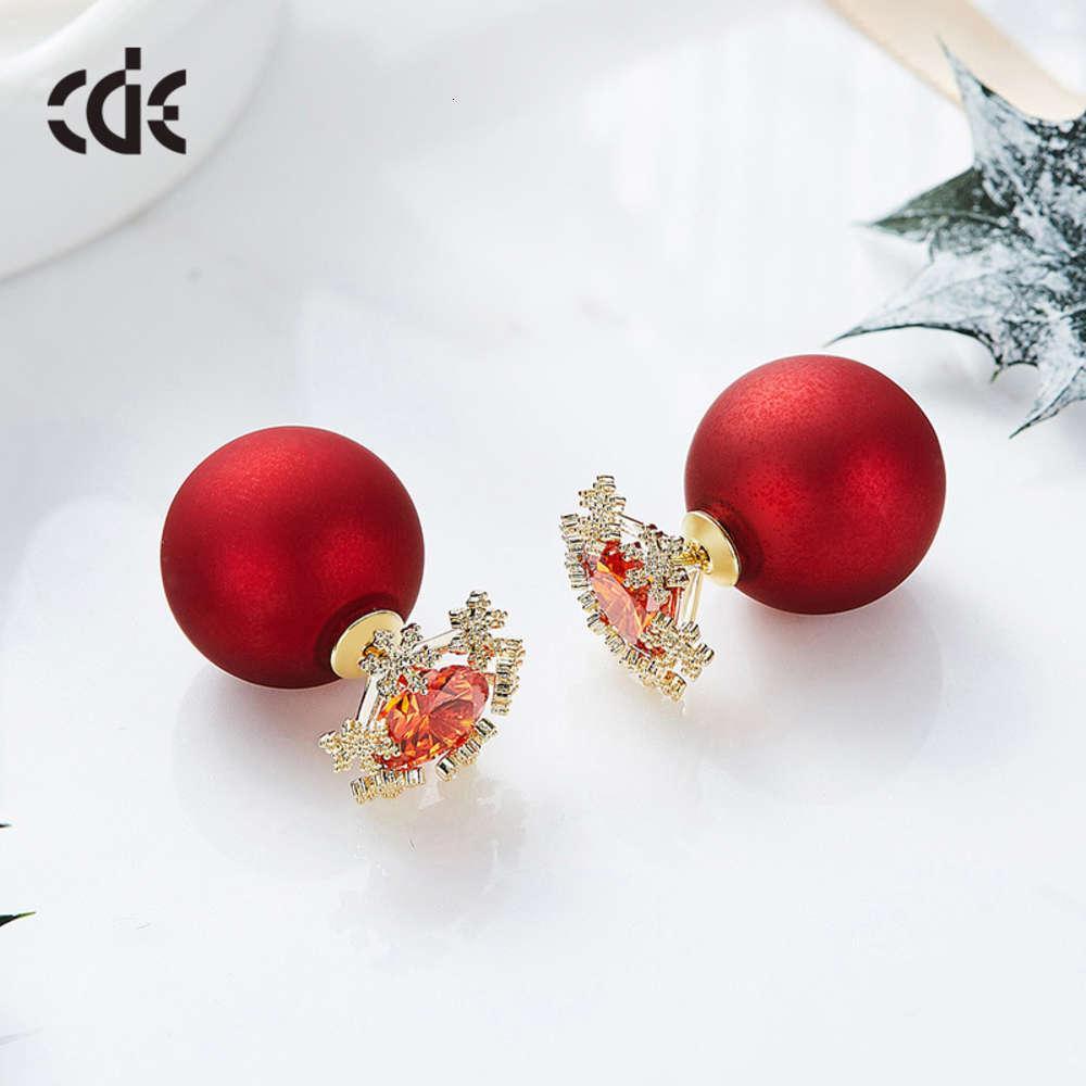 Sidel's New Snowfloke Perle Silber Nadel Ohrringe Süßigkeiten Ohrringe Damen Kopfbedeckungen Damen Ohrringe