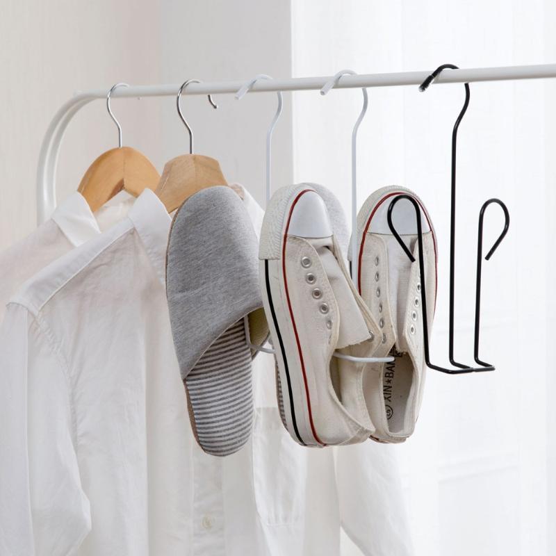 Schuhe Trocknen Rack Aufhänger Eisen Halter Regal Home Storage Organizer Hängende Werkzeuge Kleiderbügel Racks