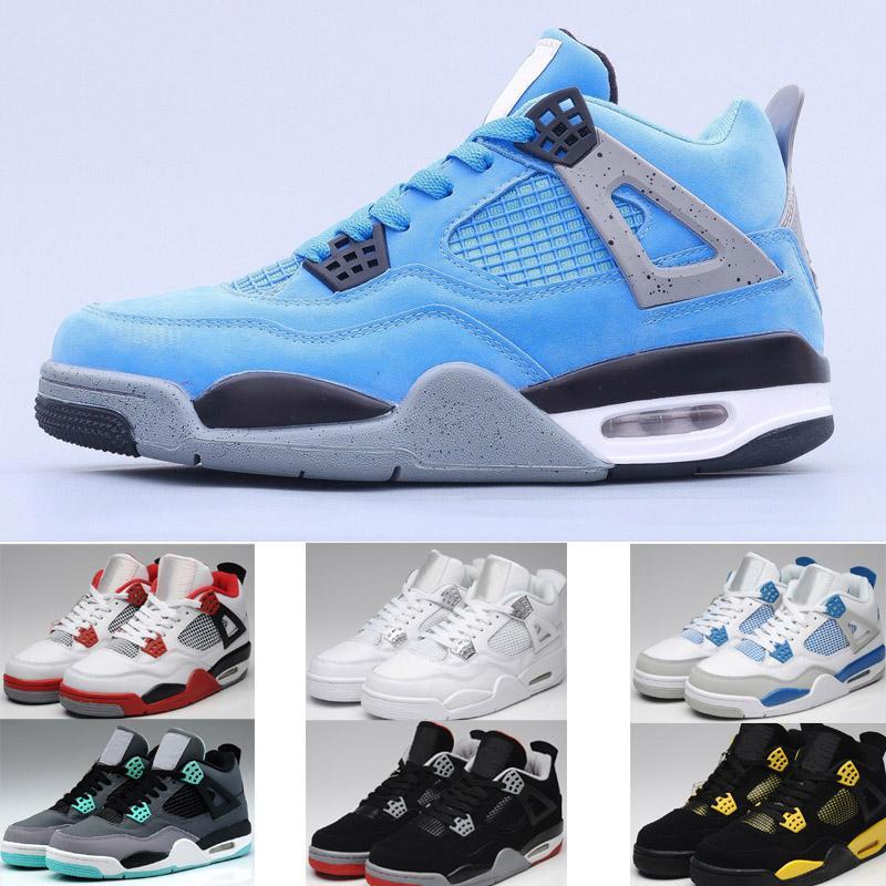 4 preto branco para sapatos de basquete dos homens iv baixo corte atlético sneakers esporte