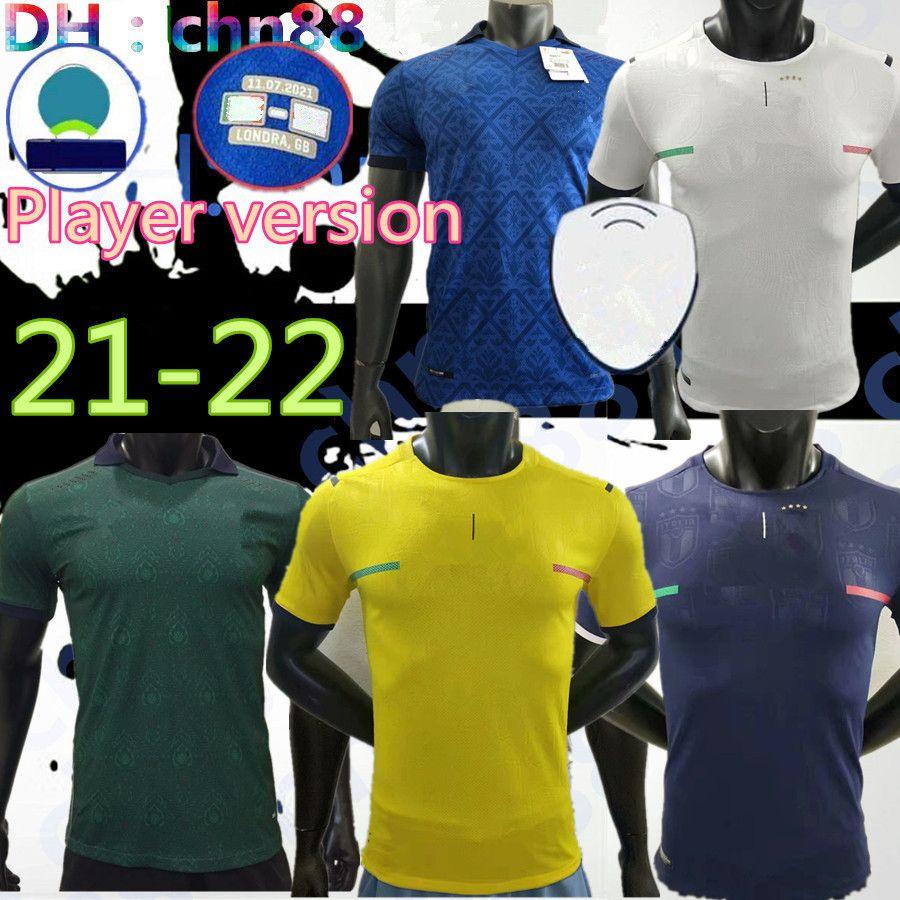 Version du joueur 2021 Jerseys de football Insigne Renaissance 21 22 Football Shirt Ensemble Chiellini Bonucci Bernardeschi Belotti Barella Jorginho Quagliarella Uniforms