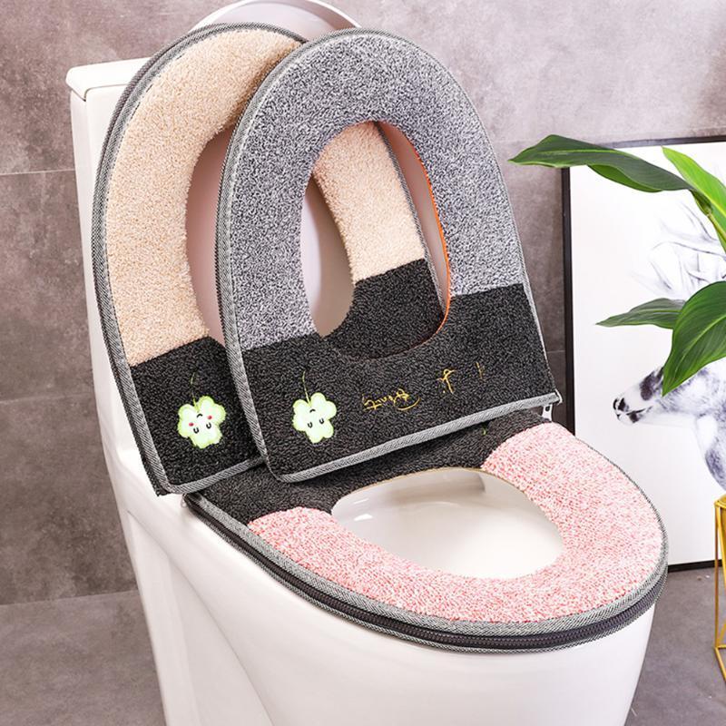 Toilettensitz-Leuchtkissen-Haushalt mit Reißverschluss-O-förmigen U-förmigen Plüschabdeckungen
