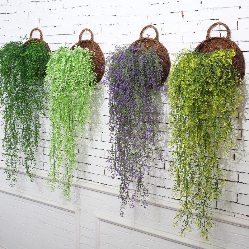 Decorative Flowers & Wreaths 1pc 80CM Artificial Fake Silk Vine Hanging Wisteria Garland Plant Arch Wedding Garden DIY Decoration Lea
