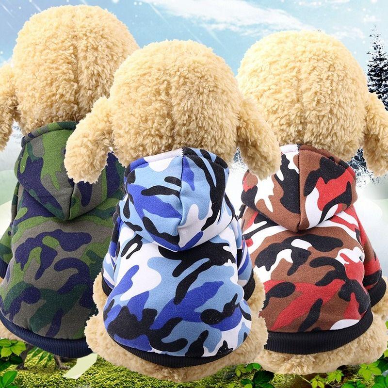 كلب الملابس التمويه الملابس وصمة عار مقاومة وسيم اثنين الساق الفرقة هوديي
